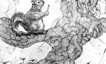 A Helpful Squirrel and the Cursed Swamp Frog Chief
